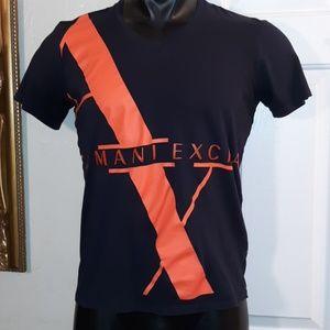 Armani Exchange Mens Black Graphic Tee EUC